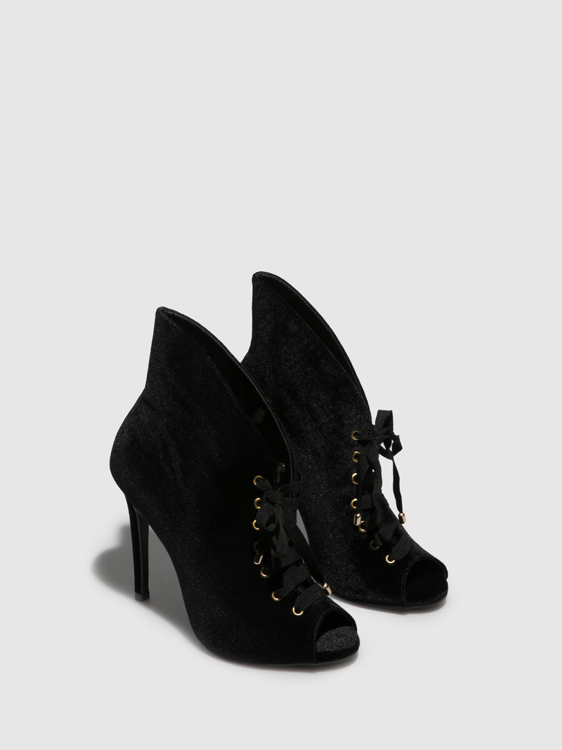 Parodi Passion Black Round Toe Ankle Boots