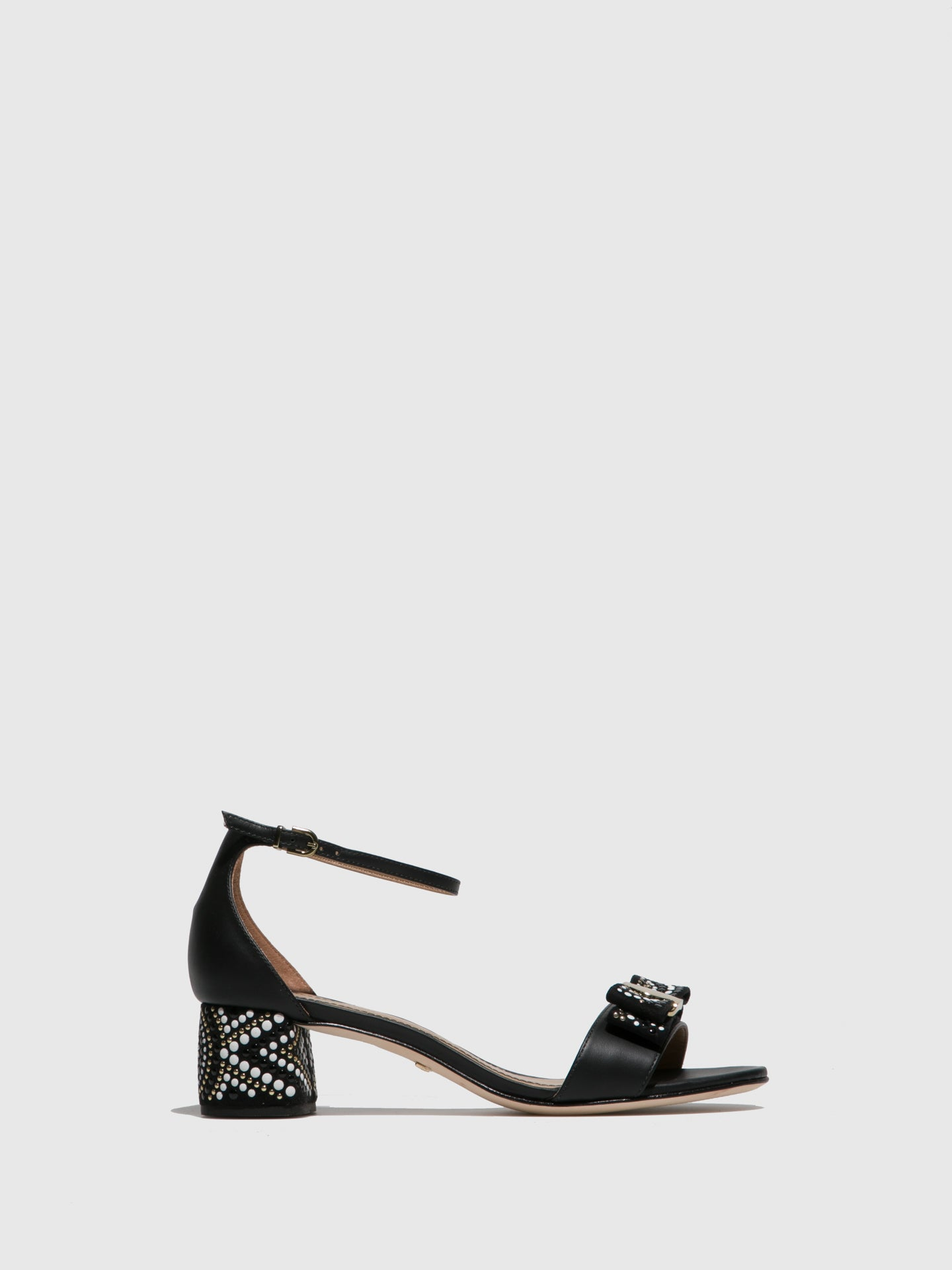 PARODI PASSION Black Ankle Strap Sandals