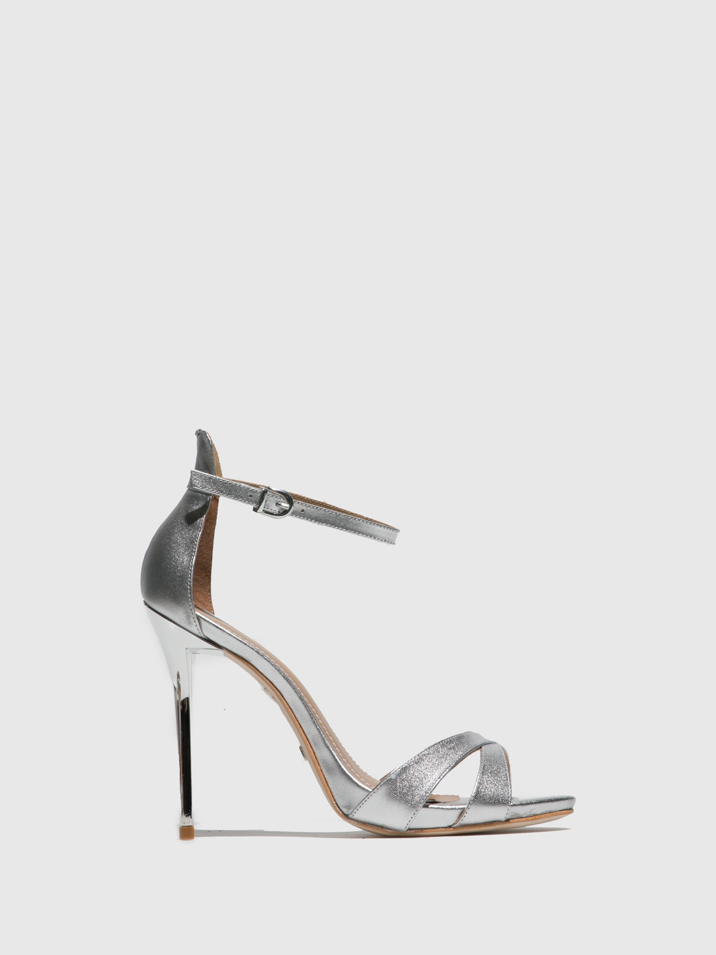 PARODI PASSION Silver Ankle Strap Sandals