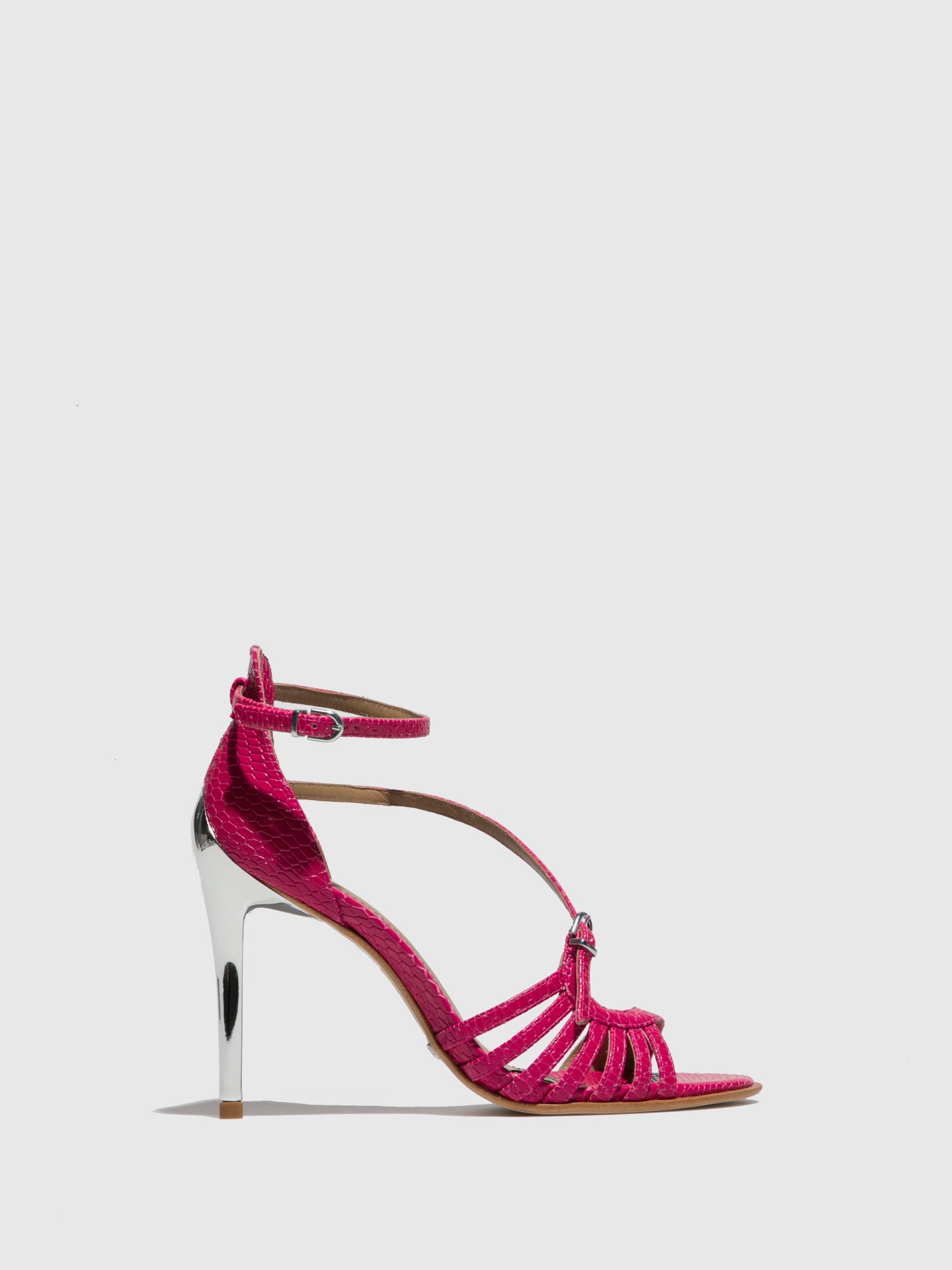 PARODI PASSION Pink Ankle Strap Sandals
