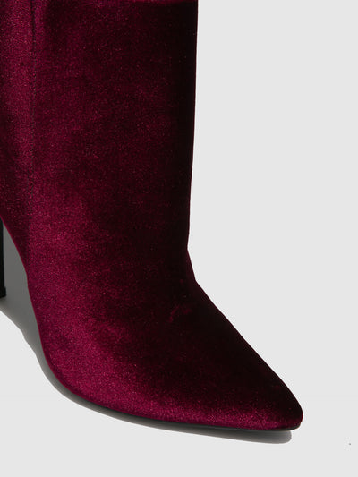 Parodi Passion Burgundy Pointed Toe Ankle Boots