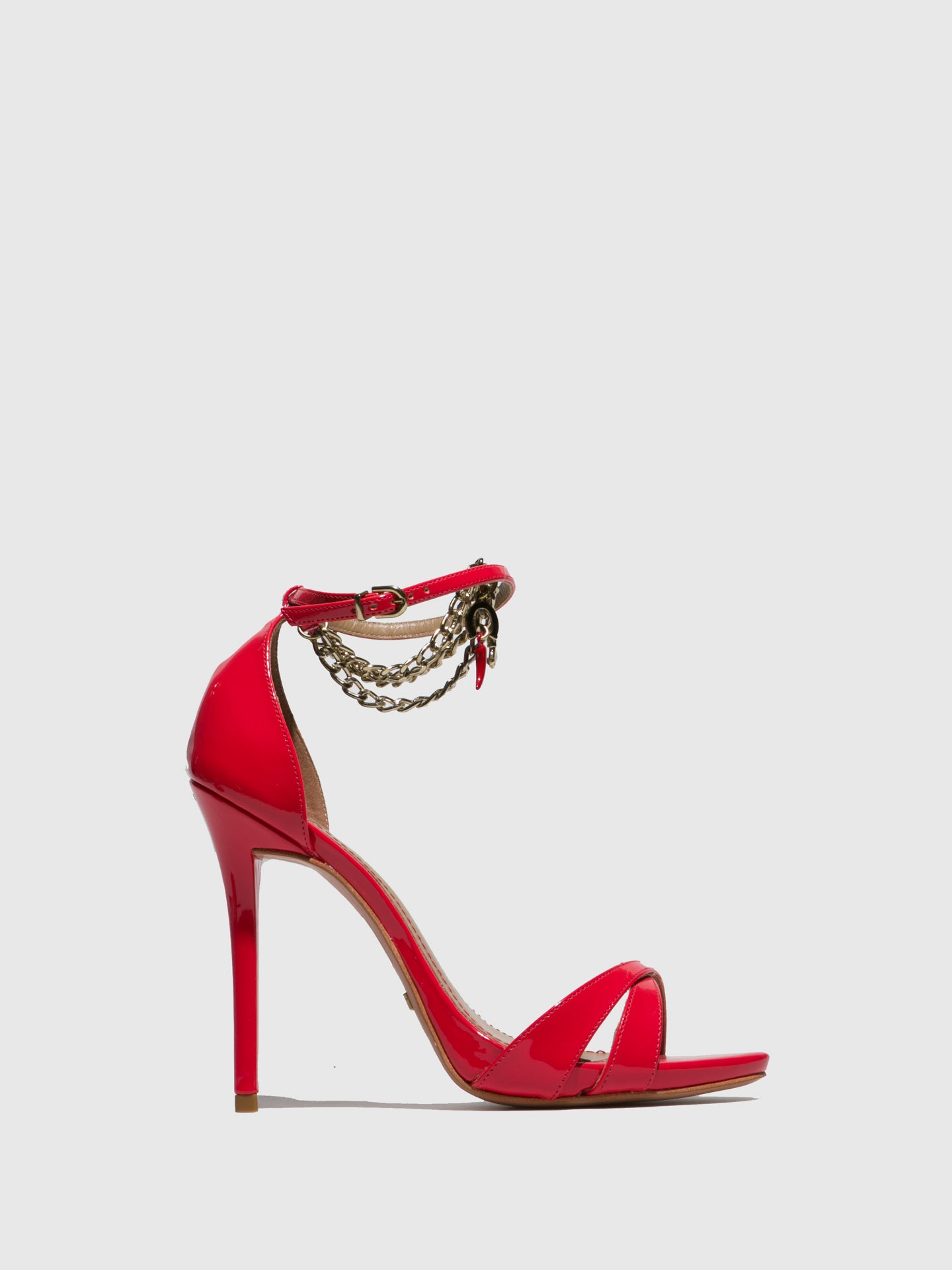 PARODI PASSION Red Ankle Strap Sandals