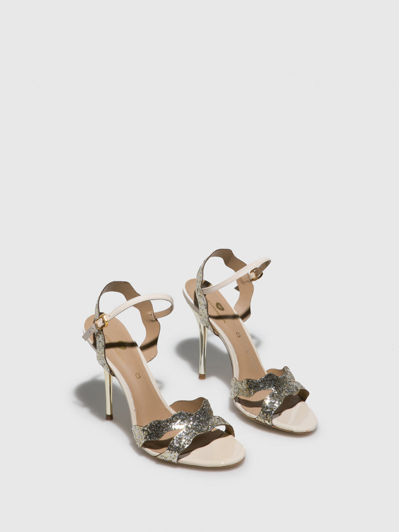 PARODI PASSION Gold Buckle Sandals