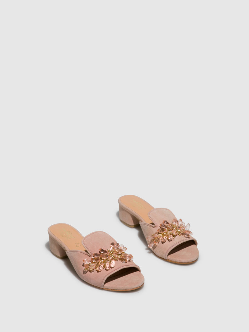 BlanchedAlmond	 Open Toe Mules