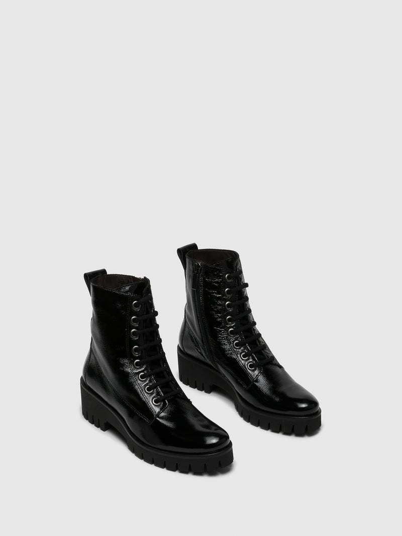 Black Tractor Ankle Boots