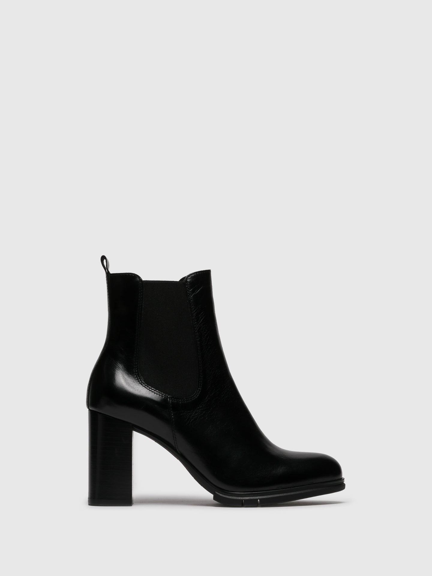 Perlato Black Elasticated Ankle Boots