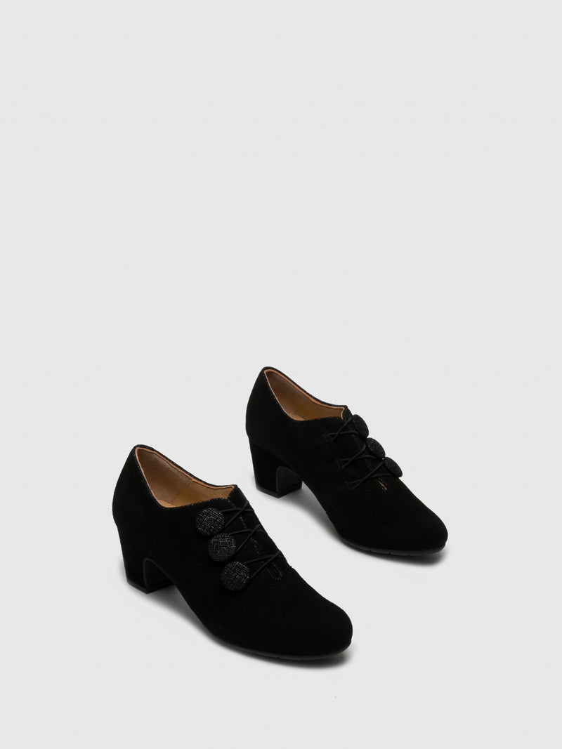 Black Appliqués Shoes