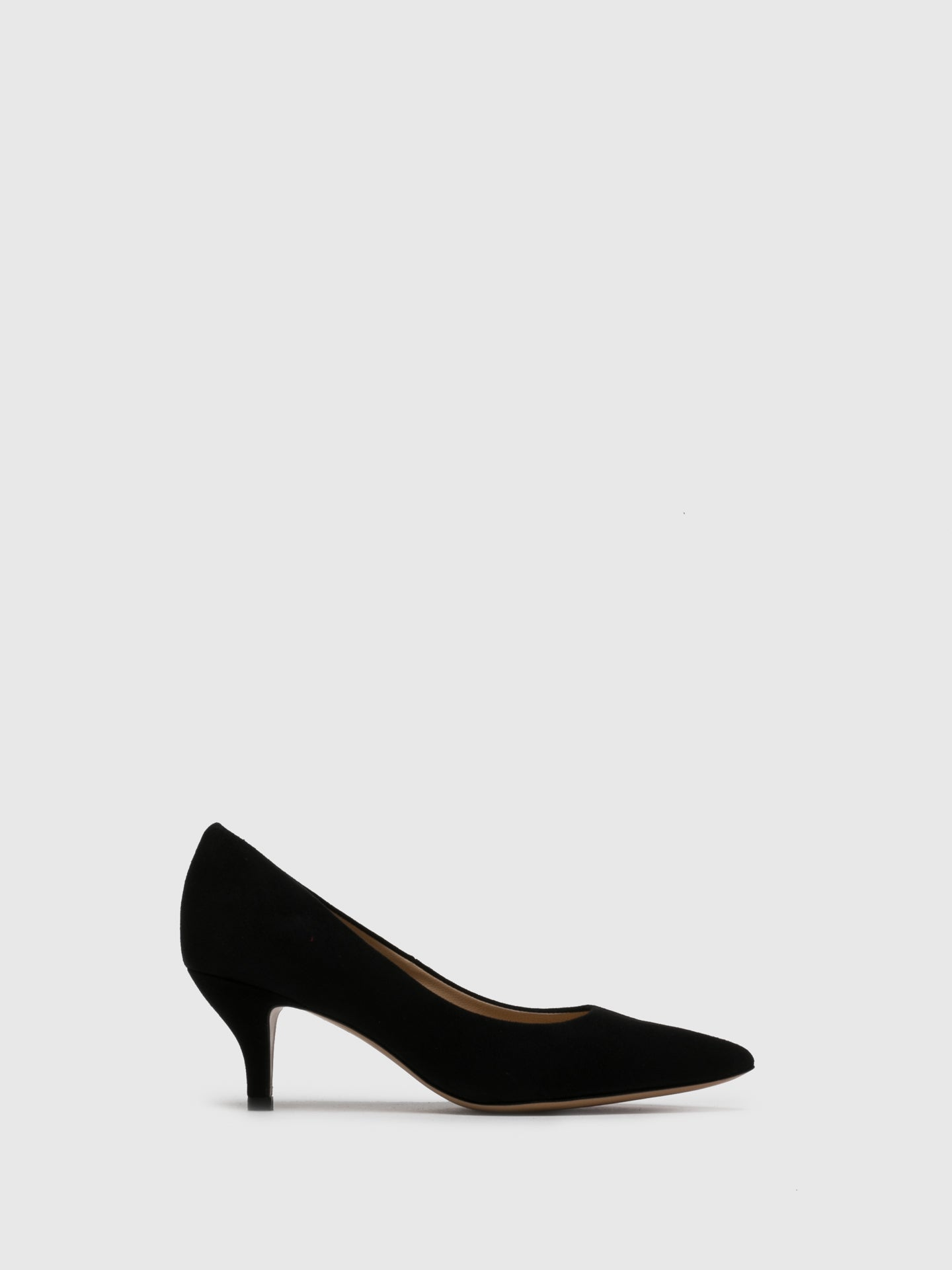 Perlato Black Suede Pointed Toe Shoes
