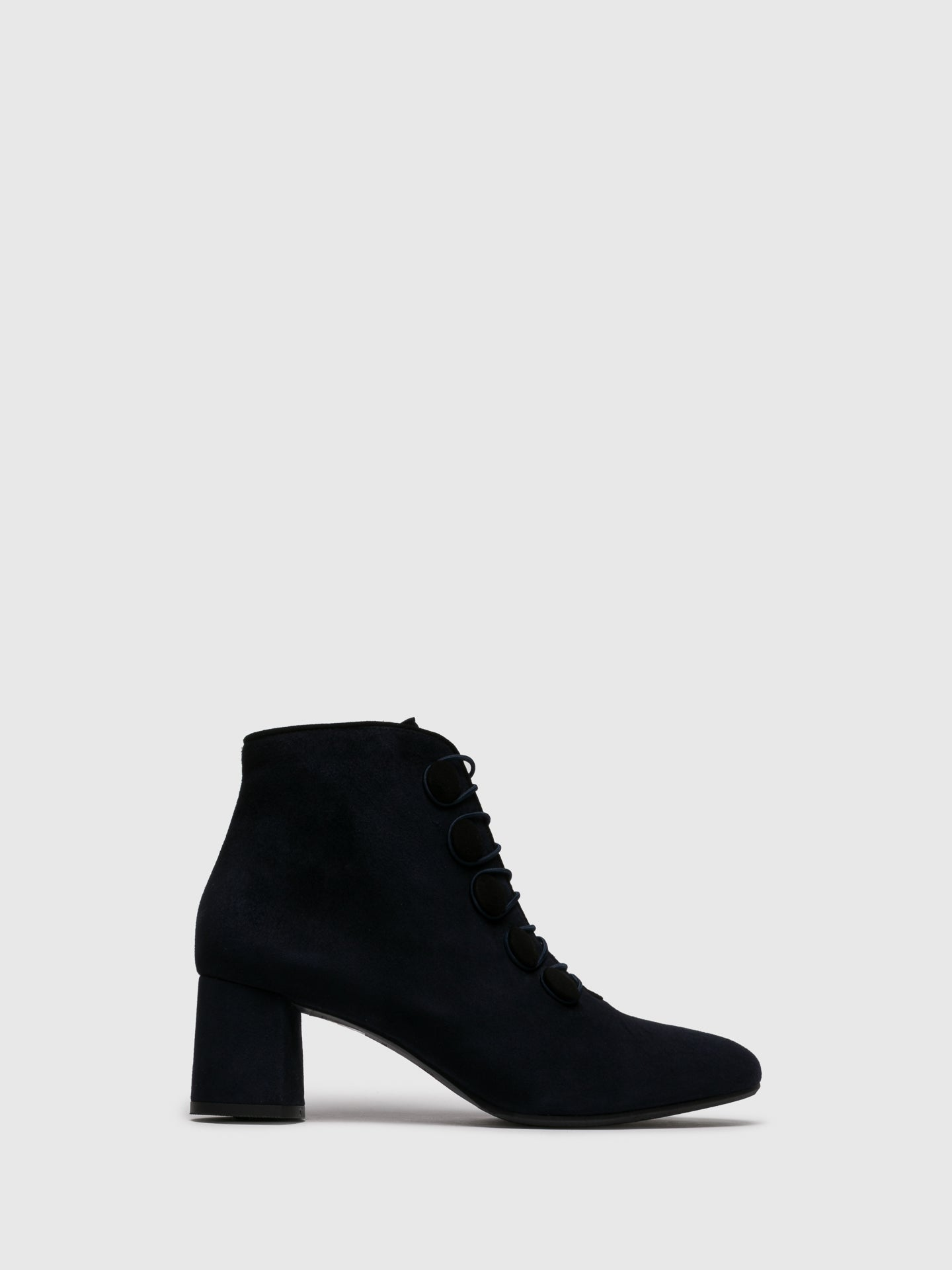 Perlato Navy Zip Up Ankle Boots