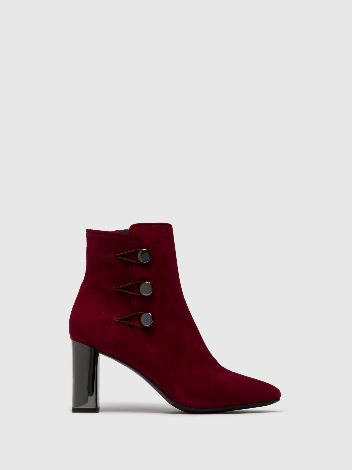 Perlato DarkRed Zip Up Ankle Boots