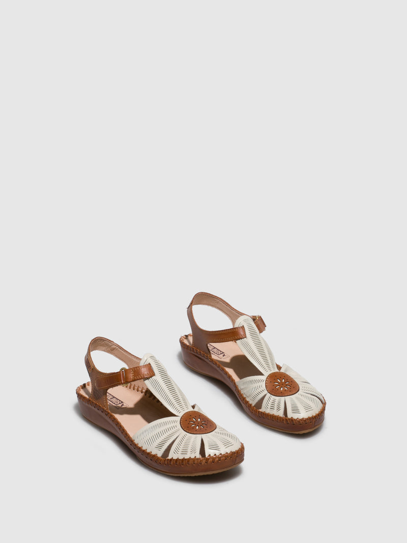 Pikolinos White Velcro Sandals