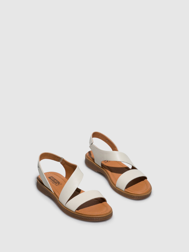 Pikolinos White Sling-Back Sandals