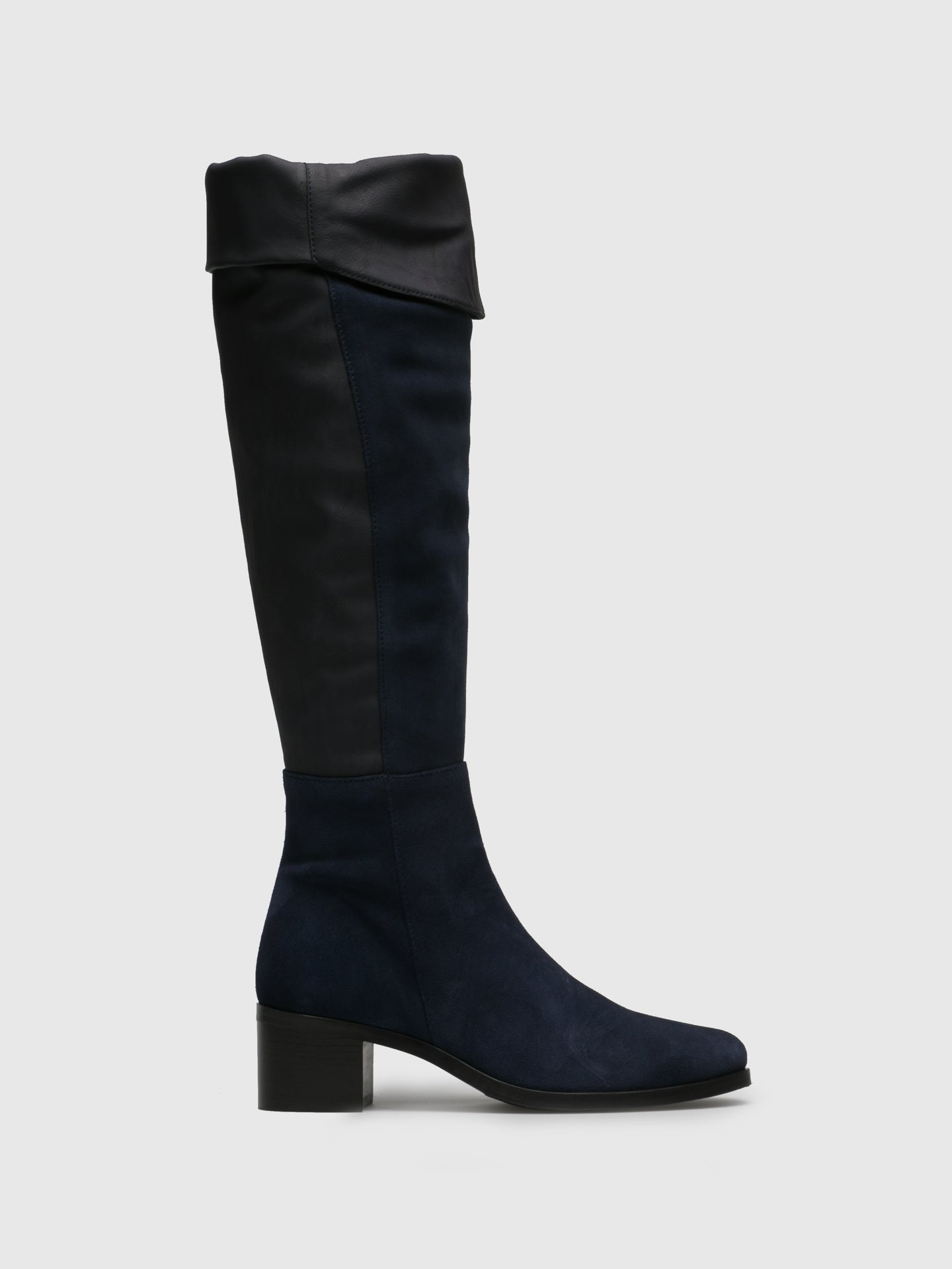 PintoDiBlu Navy Suede Over the Knee