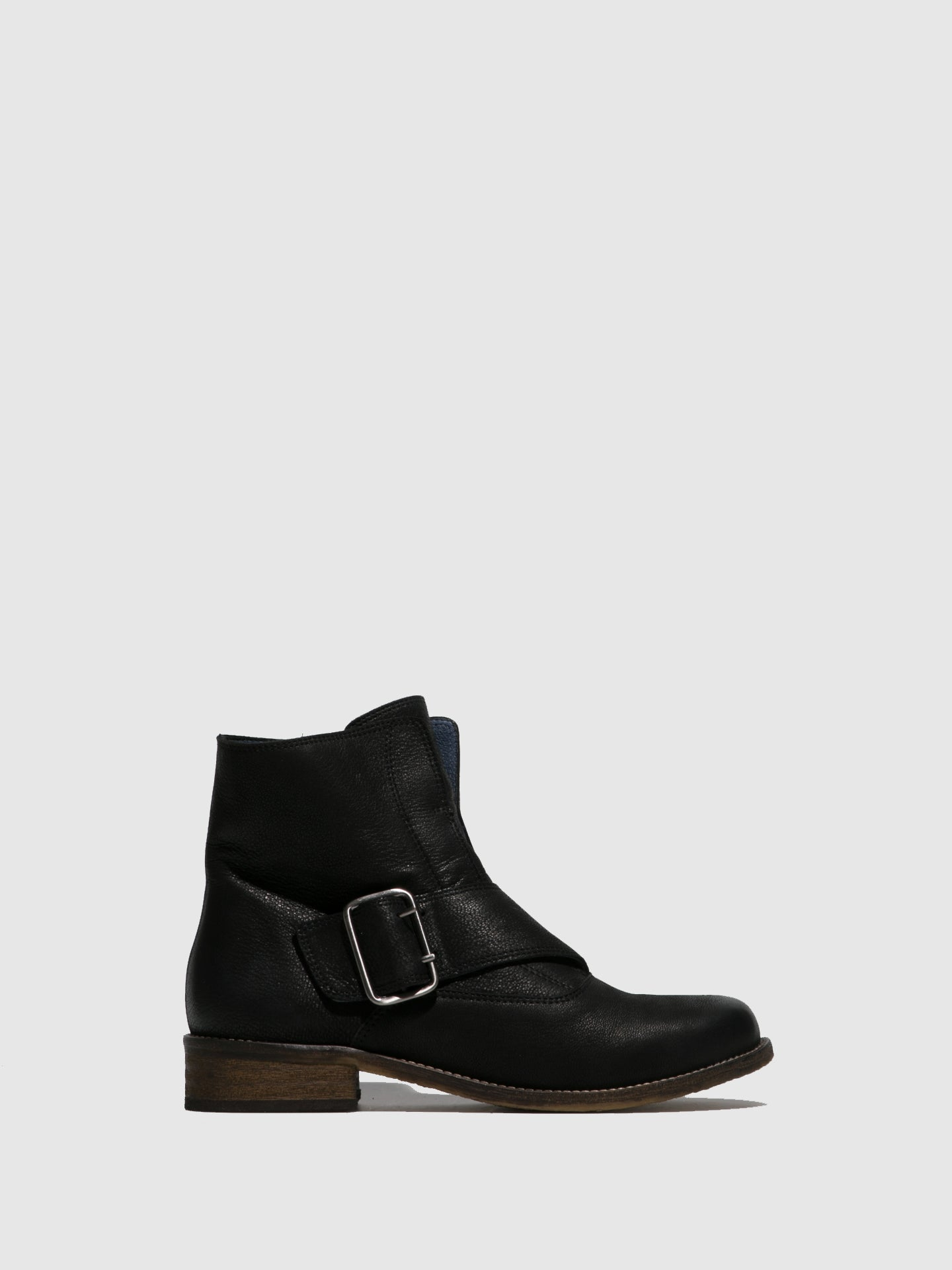 PintodiBlu Black Buckle Ankle Boots