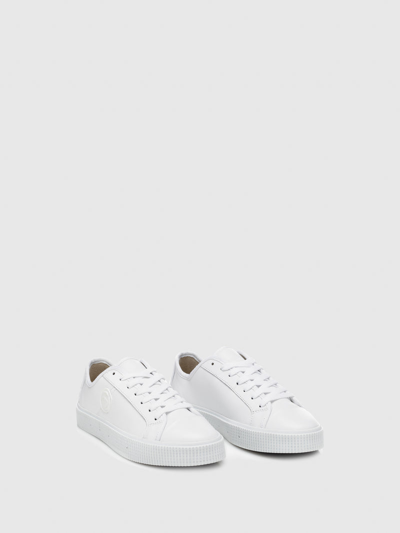 Sanjo White Leather Lace-up Trainers