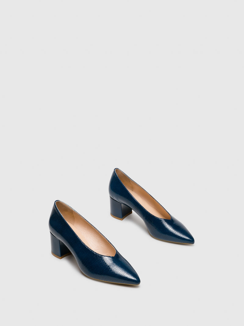 Blue Pointed Toe Shoes