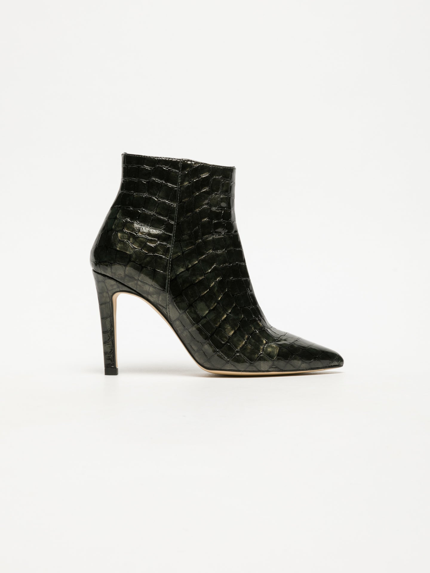 Sofia Costa DarkGreen Pointed Toe Ankle Boots