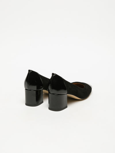 Sofia Costa Black Block Heel Shoes