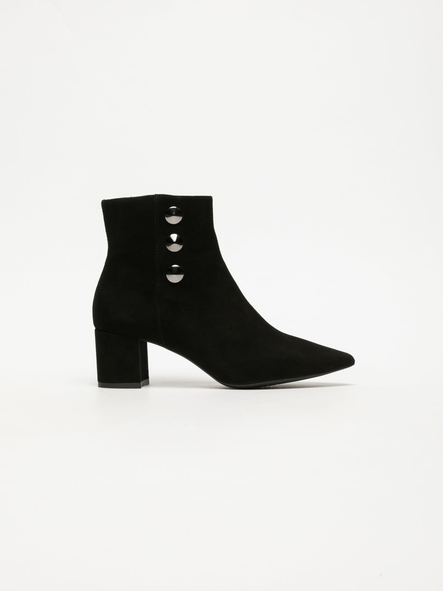 Sofia Costa Black Zip Up Ankle Boots