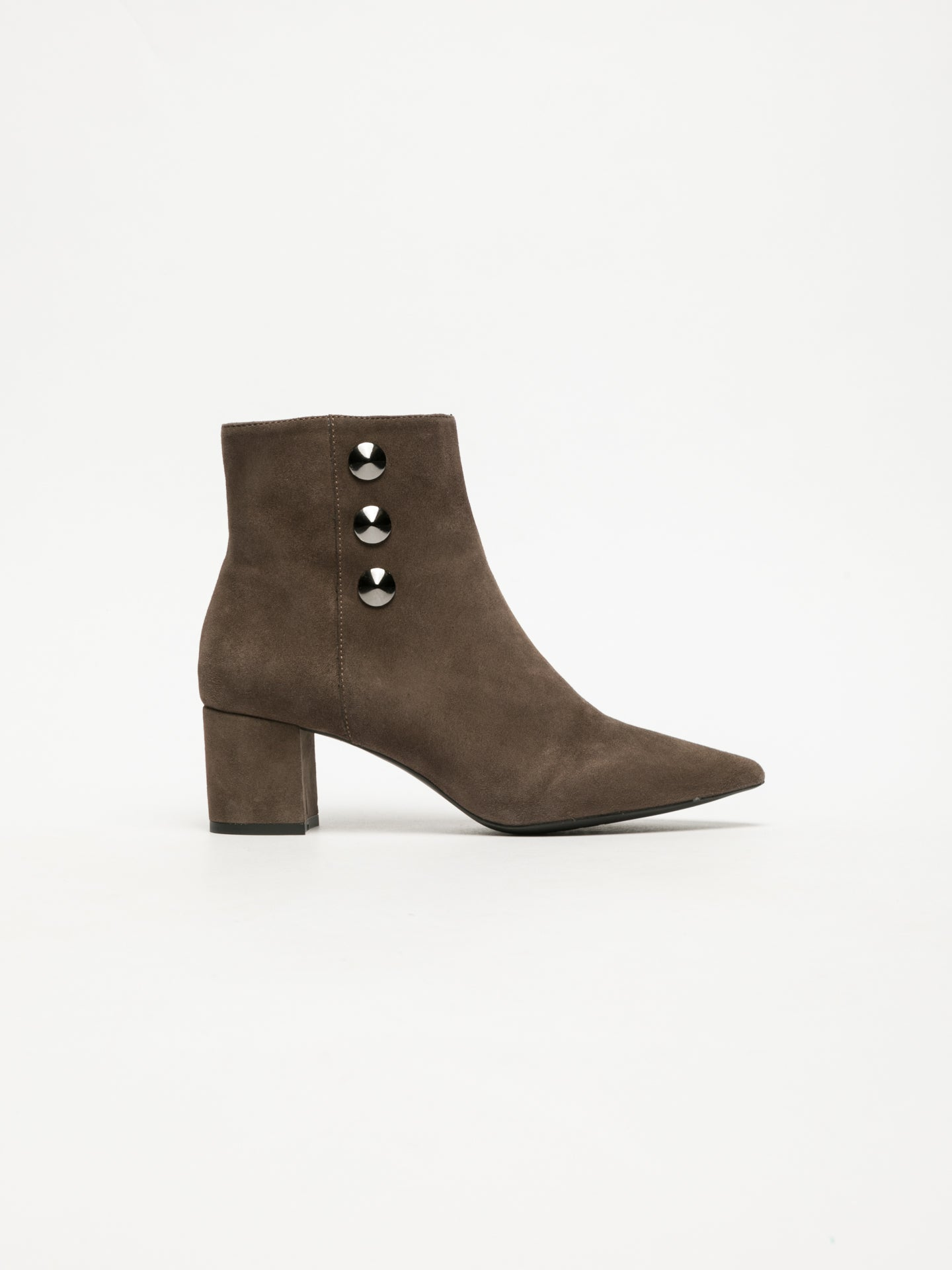 Sofia Costa Tan Zip Up Ankle Boots