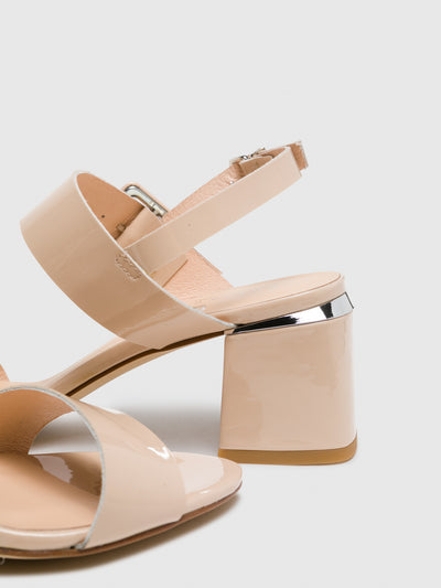 Sofia Costa Pink Buckle Sandals
