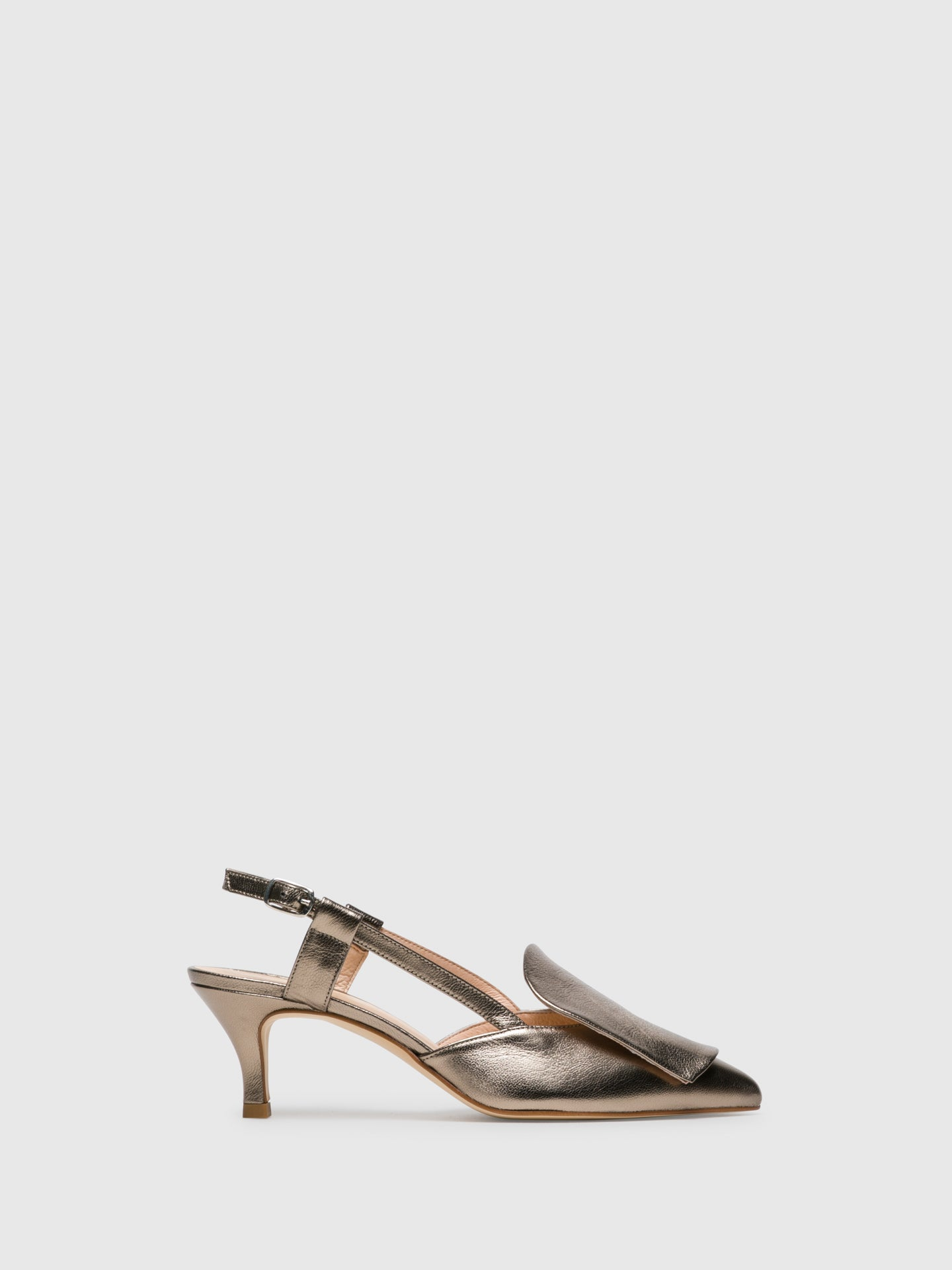 Sofia Costa Gold Monk Sandals
