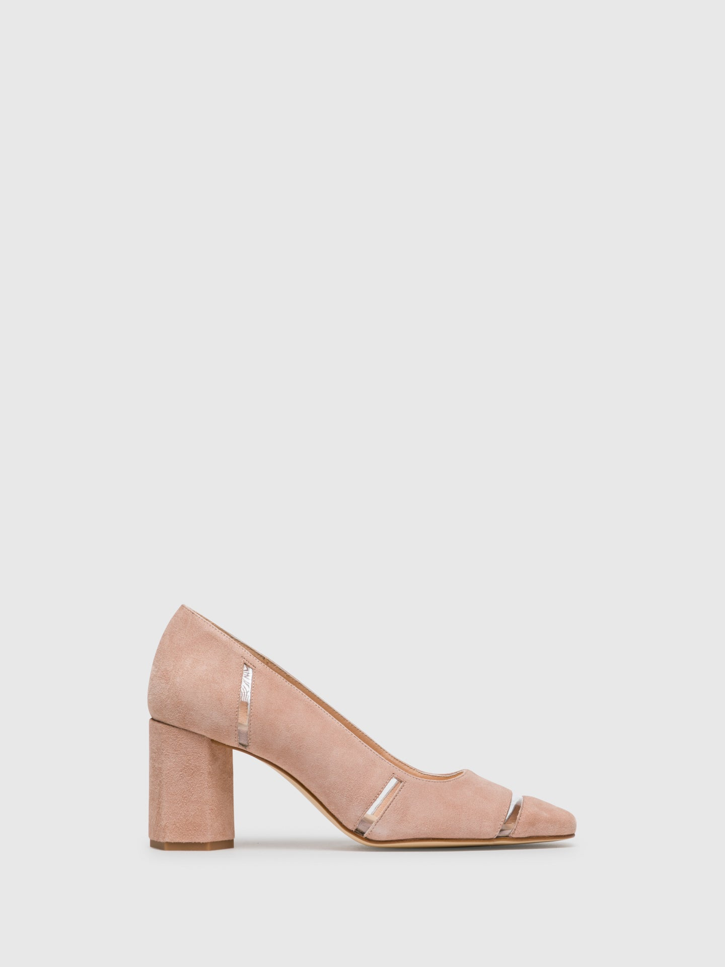 Sofia Costa Pink Square Toe Pumps Shoes