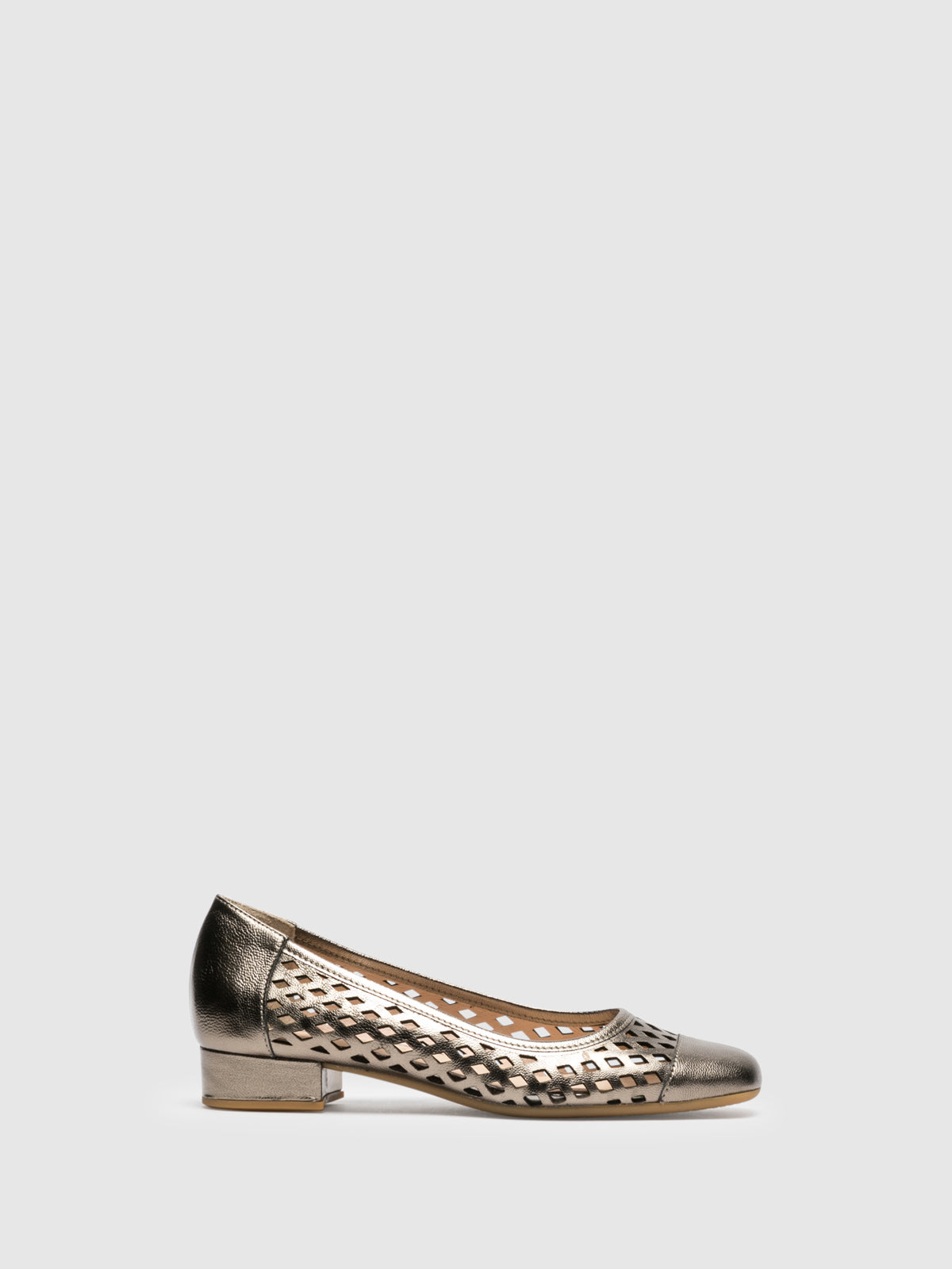 Sofia Costa Gold Square Toe Shoes