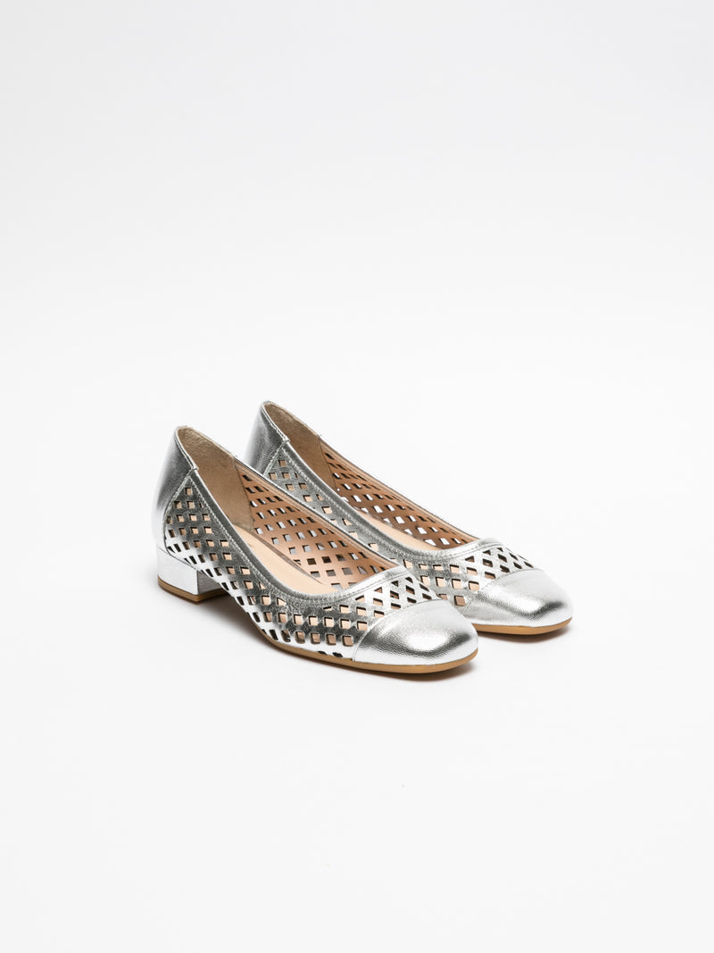 Sofia Costa Silver Square Toe Shoes