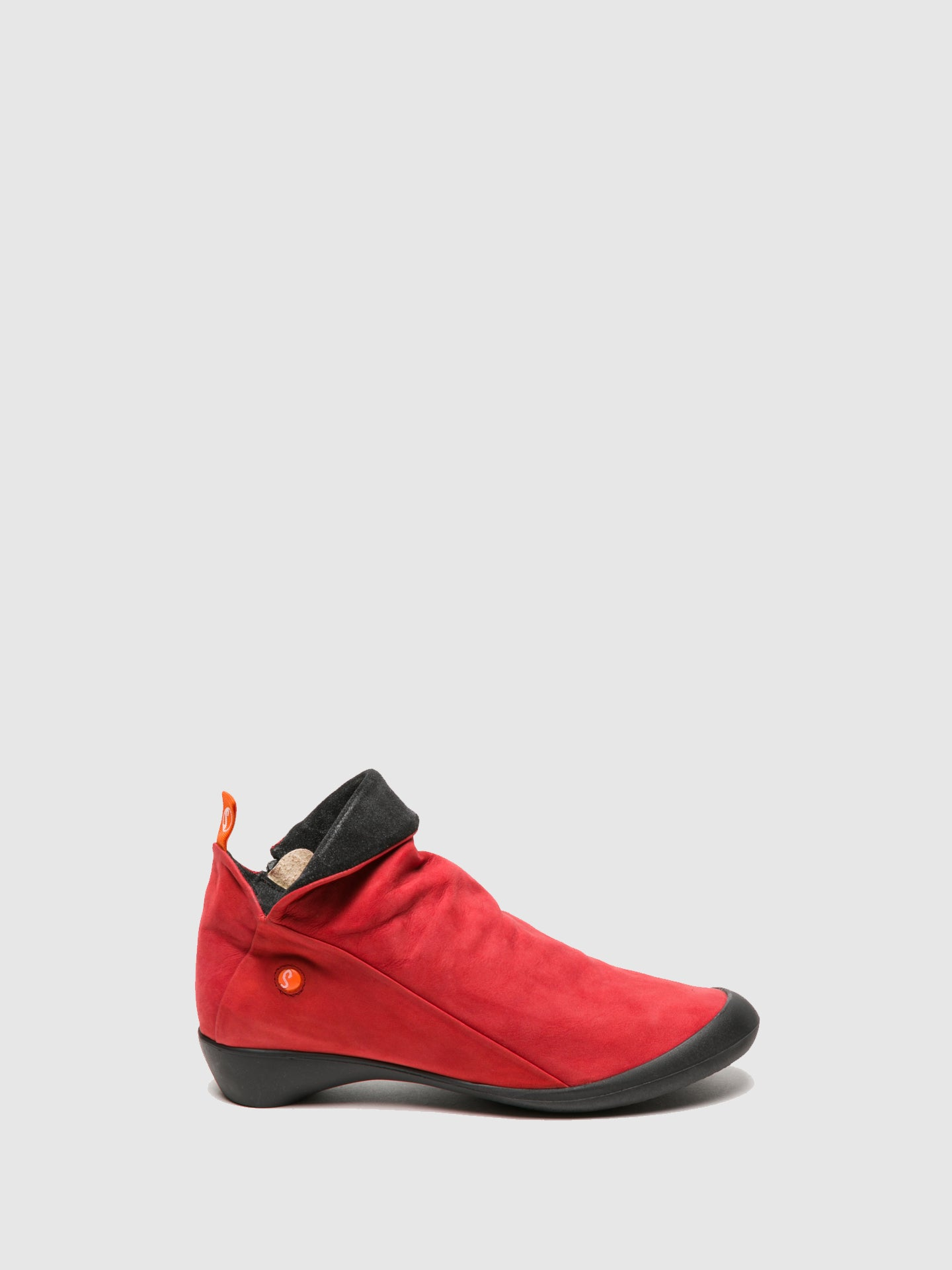 Softinos Zip Up Ankle Boots FARAH RED/ANTHRACITE