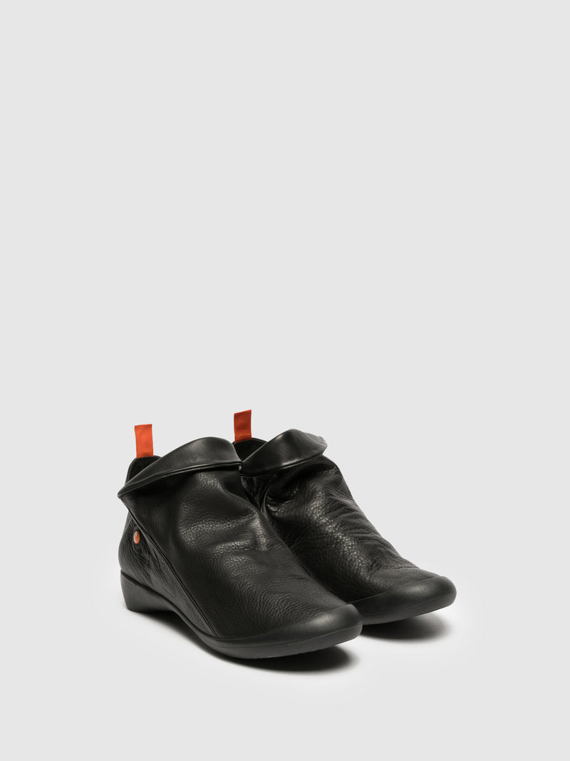 Softinos Zip Up Ankle Boots FARAH BLACK
