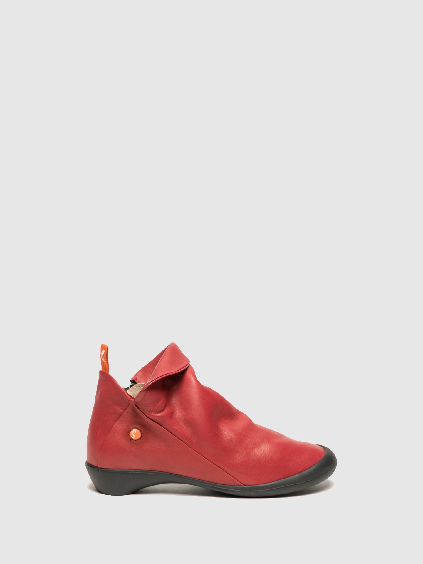 SOFTINOS Crimson Zip Up Ankle Boots