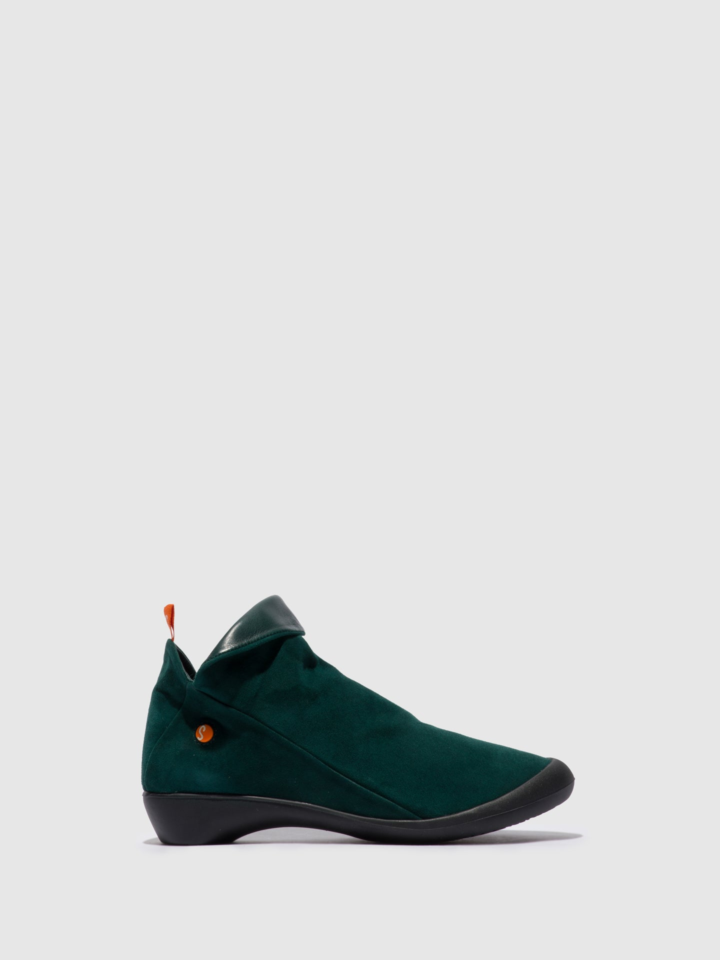 Softinos Zip Up Ankle Boots FARAH FOREST GREEN