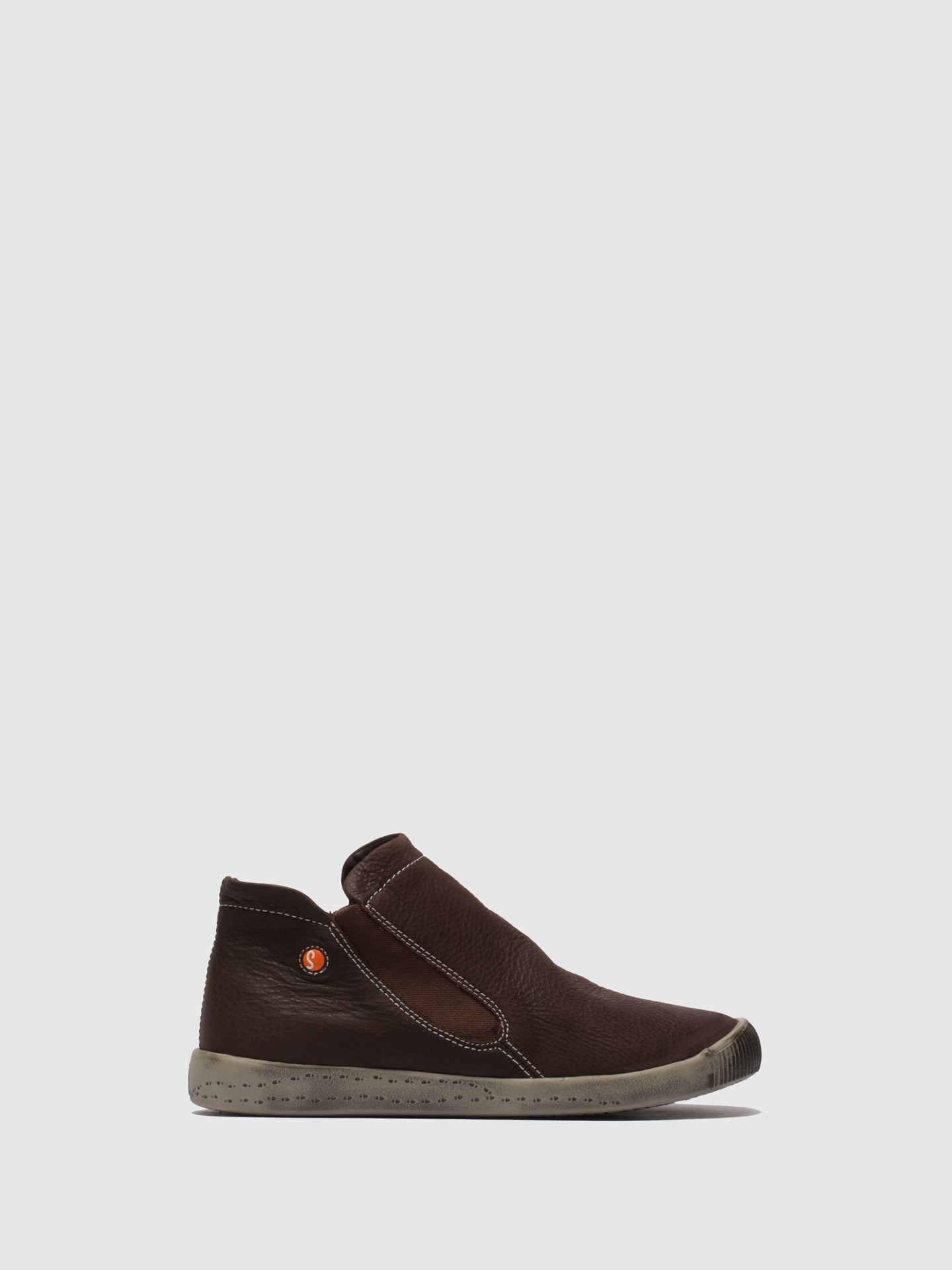 SOFTINOS SaddleBrown Elasticated Trainers