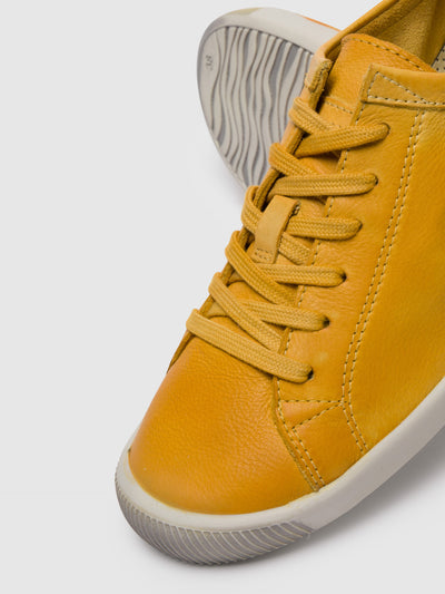 Softinos Lace-up Trainers ISLA Yellow