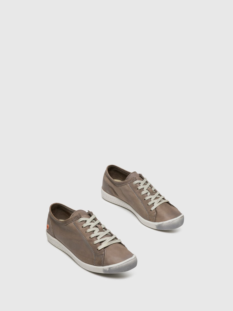 SOFTINOS Lace-up Trainers ISLA Taupe