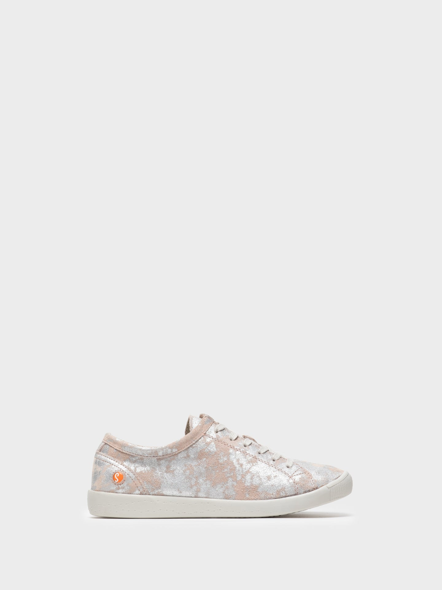 SOFTINOS Pink Lace-up Trainers