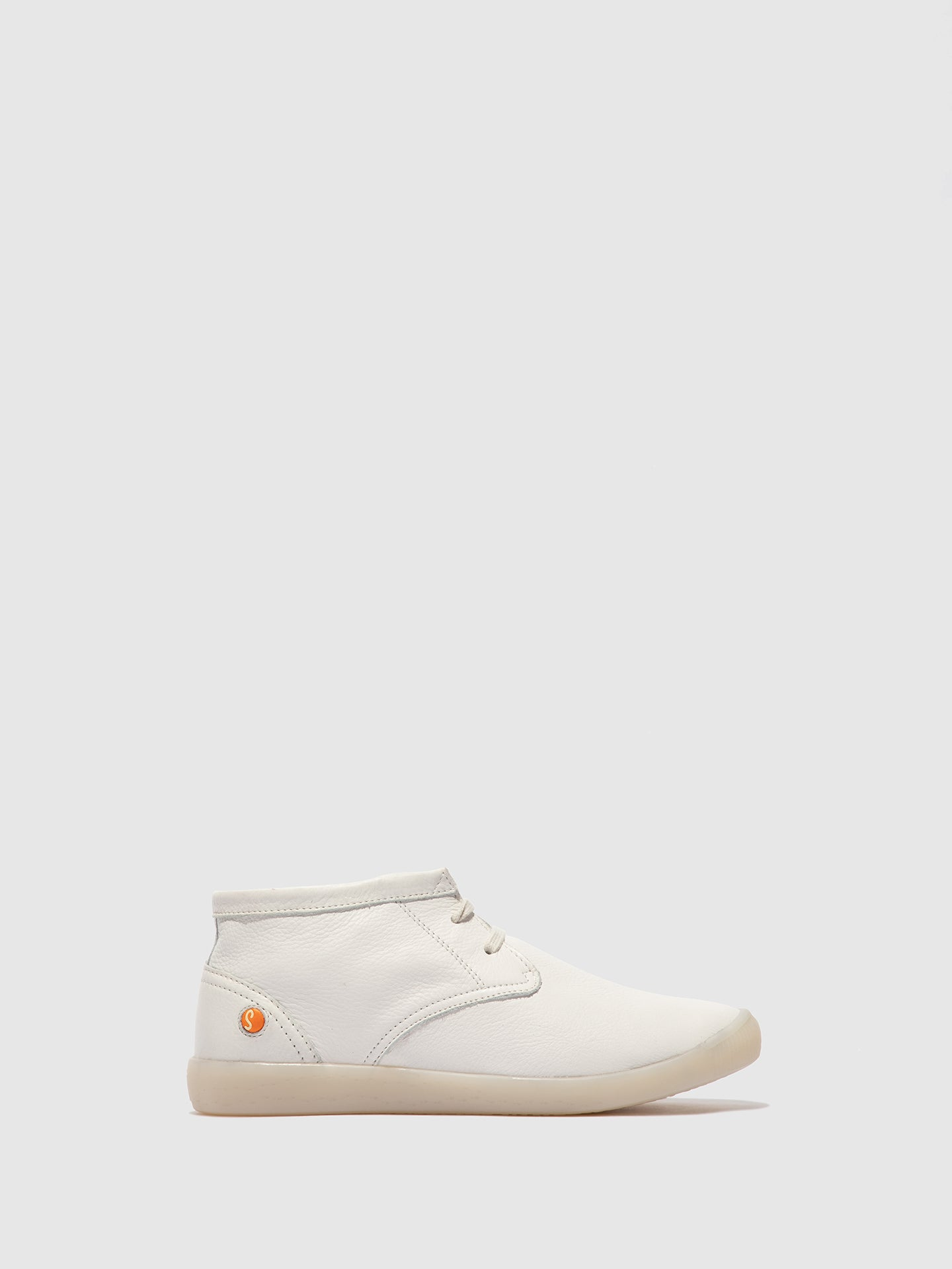 Softinos Lace-up Ankle Boots INDIRA SMOOTH WHITE