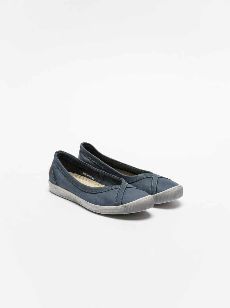 SOFTINOS SteelBlue Round Toe Ballerinas