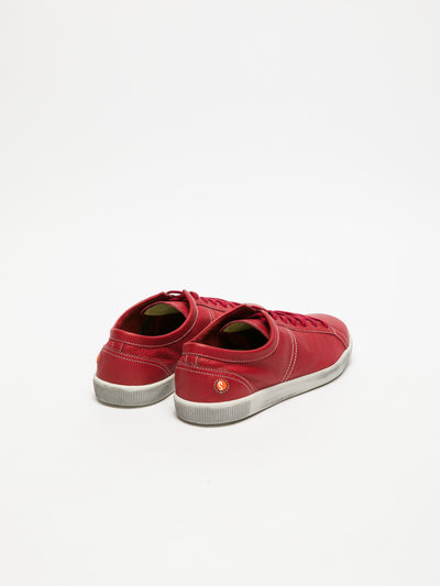SOFTINOS Red Lace-up Trainers