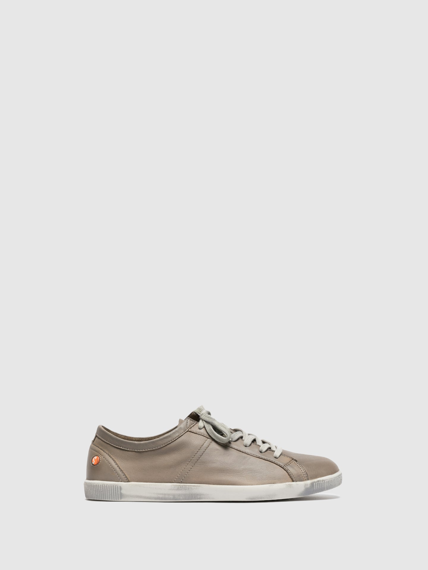 SOFTINOS Tan Lace-up Trainers
