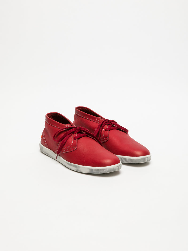 Red Low-Top Trainers