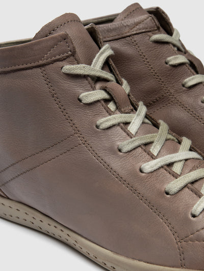 SOFTINOS LightGray Hi-Top Trainers