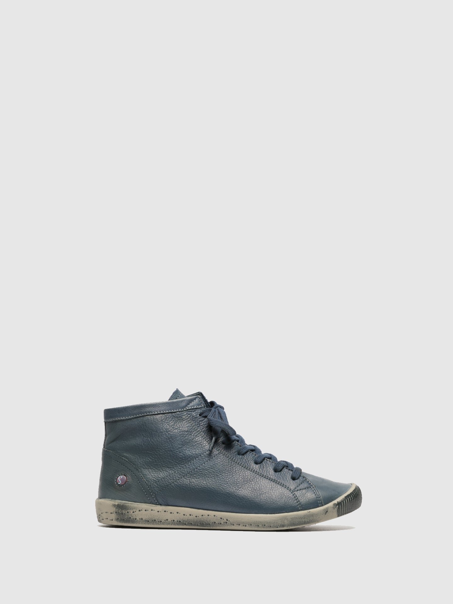 SOFTINOS SteelBlue Hi-Top Trainers