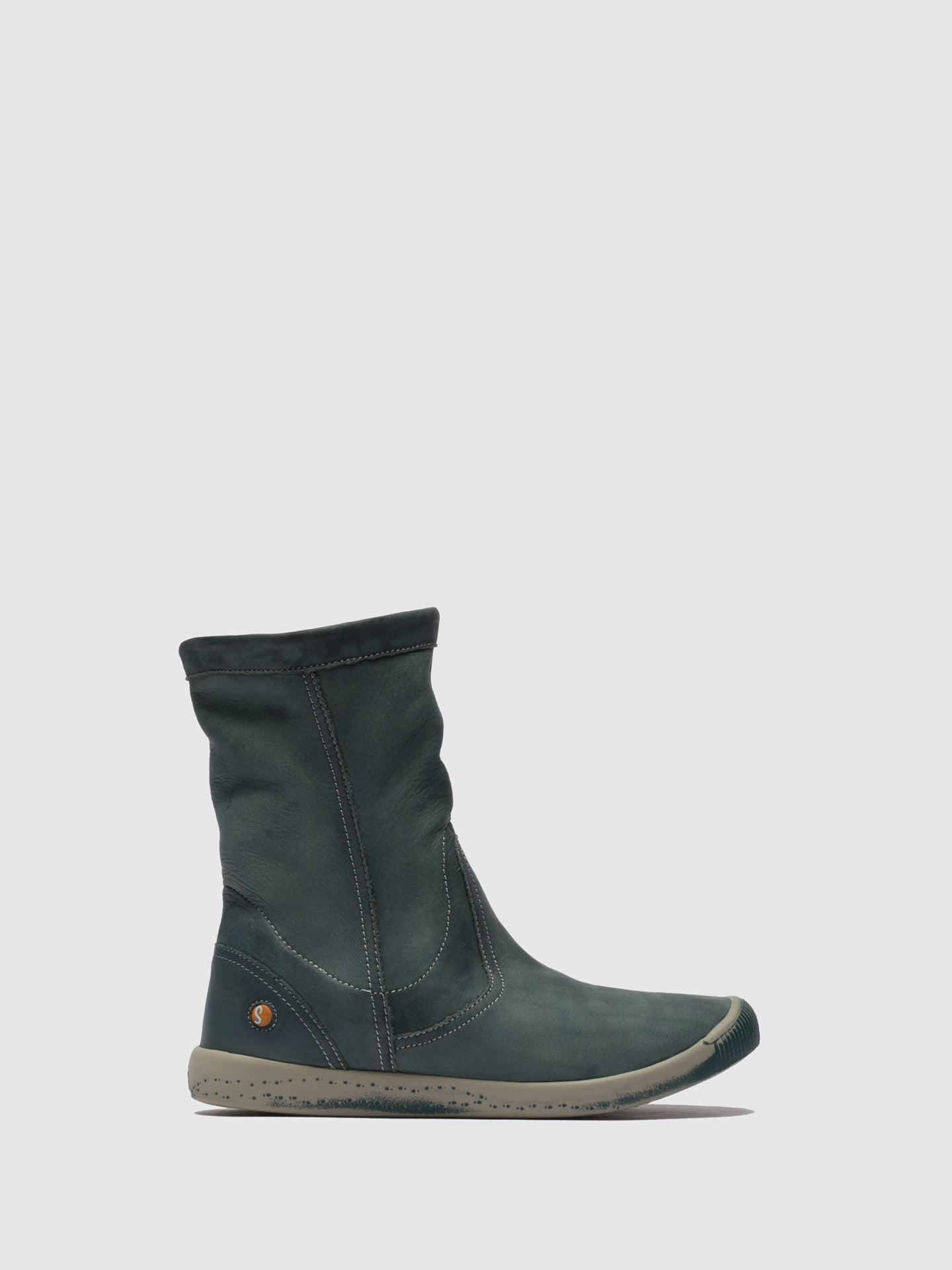 SOFTINOS SeaGreen Round Toe Ankle Boots