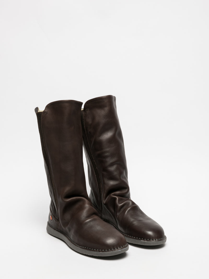 SOFTINOS Brown Knee-High Boots