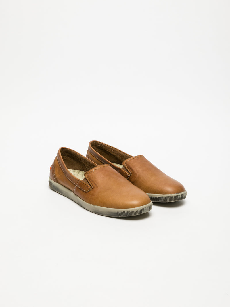 SOFTINOS Brown Slip-on Trainers
