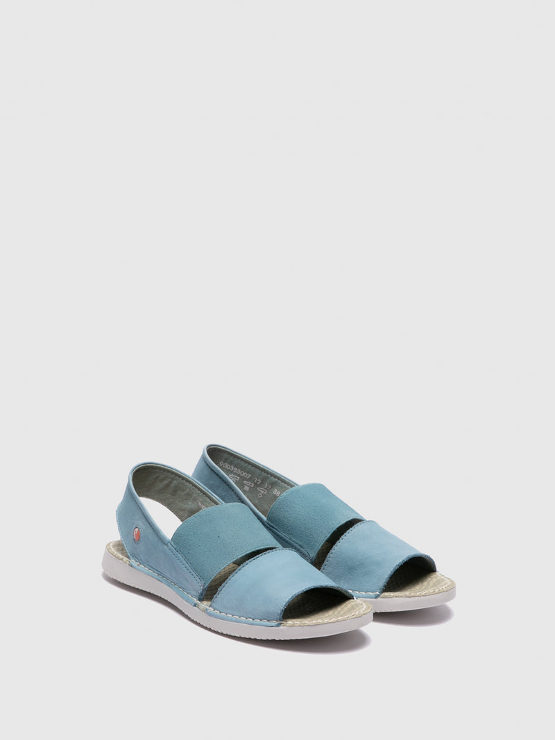 SOFTINOS LightBlue Sling-Back Sandals