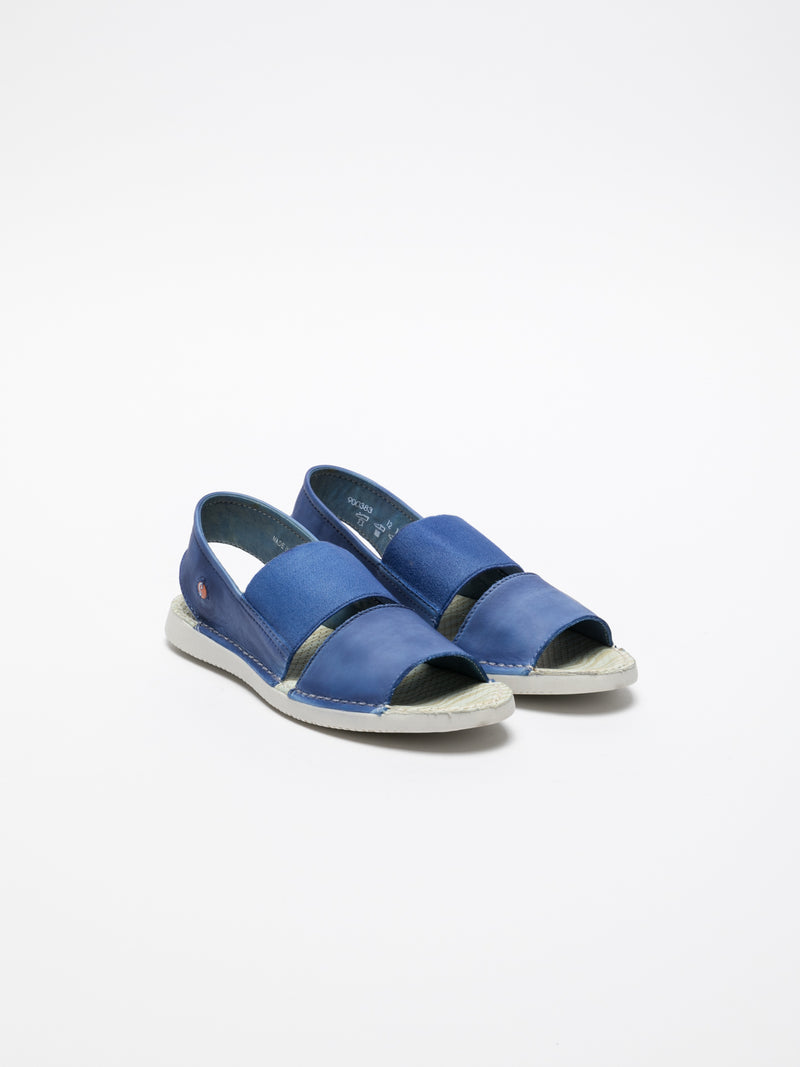SkyBlue Sling-Back Sandals