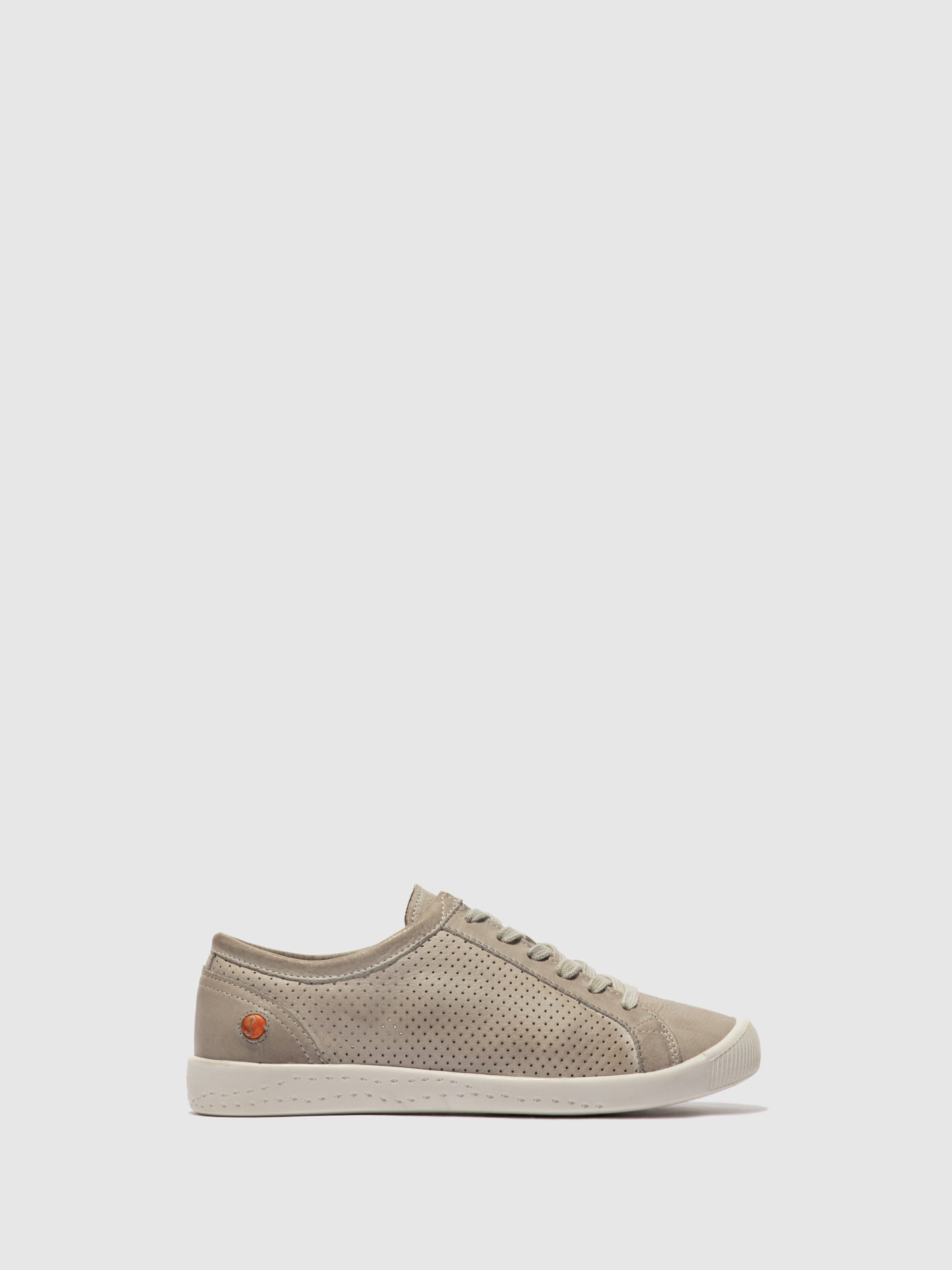 Softinos Lace-up Trainers ICA388SOF WASHED LIGHT GREY